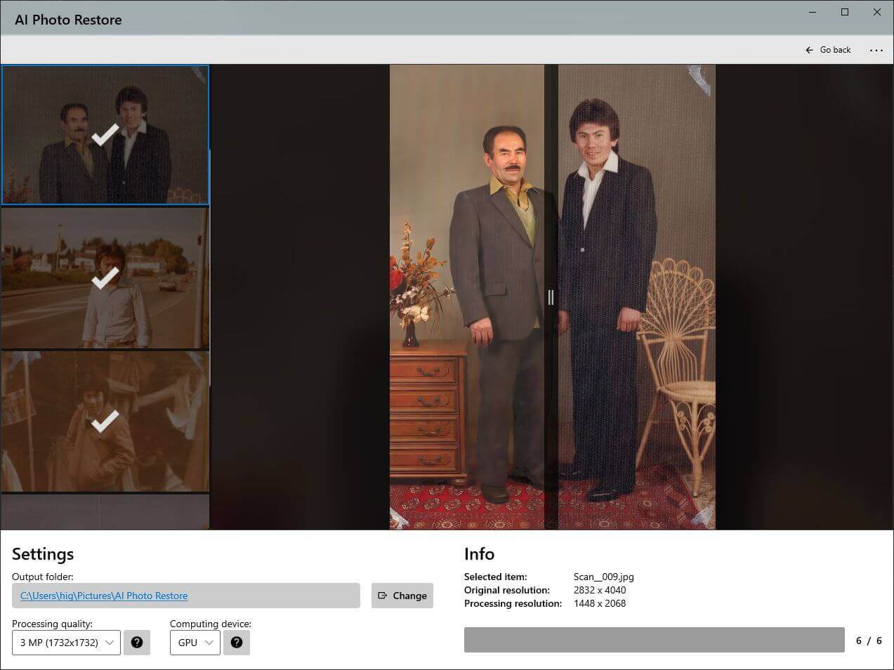 AI Photo Restore - Screenshot 2